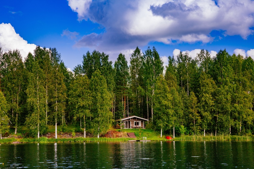 Finland lake house